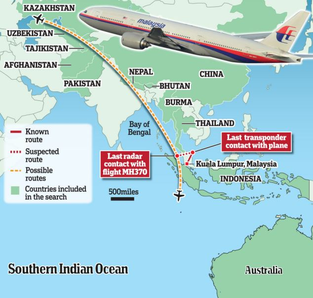 The Path of the Missing Malaysian Airliner: What We Know, and How ...