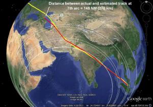 MH021 estimated track