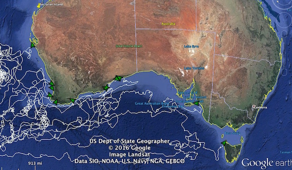Google Earth screenshot of Australia